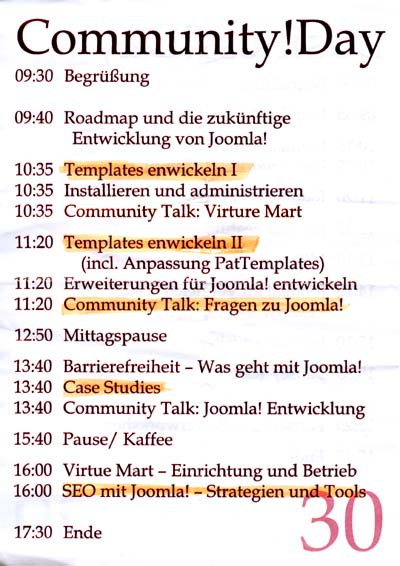 Programm Community!Day