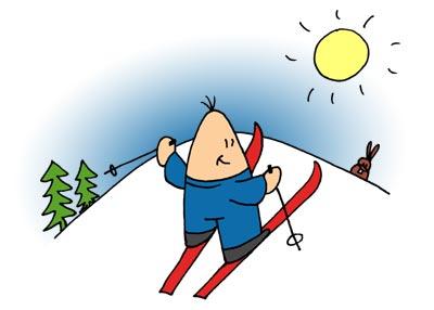 Jo fährt Ski